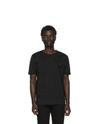 Camiseta con cuello circular en negro y blanco de Fendi