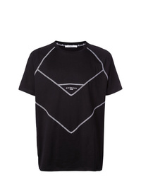 Camiseta con cuello circular en negro y blanco de Givenchy