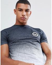 Camiseta con cuello circular en negro y blanco de Hype