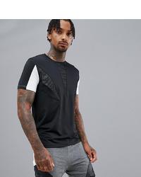 Camiseta con cuello circular en negro y blanco de KI5-A