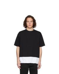 Camiseta con cuello circular en negro y blanco de Marni