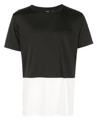 Camiseta con cuello circular en negro y blanco de Onia