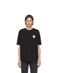 Camiseta con cuello circular en negro y blanco de Tiger of Sweden Jeans