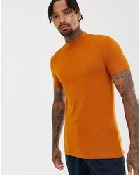 Camiseta con cuello circular en tabaco de ASOS DESIGN