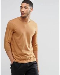 Camiseta con cuello circular en tabaco de Asos