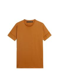 Camiseta con cuello circular en tabaco de Mackintosh 0003