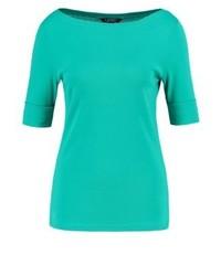 Camiseta con cuello circular en turquesa de Ralph Lauren