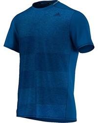 Camiseta con cuello circular en verde azulado de adidas