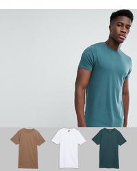 Camiseta con cuello circular en verde azulado de ASOS DESIGN