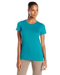 Camiseta con cuello circular en verde azulado de Ice Breaker