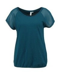 Camiseta con cuello circular en verde azulado de s.Oliver