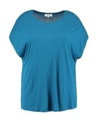 Camiseta con cuello circular en verde azulado de Zalando Essentials