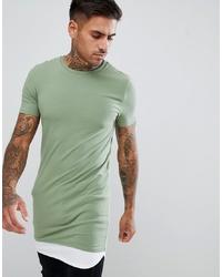 Camiseta con cuello circular en verde menta de ASOS DESIGN