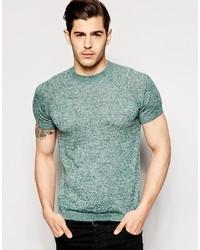 Camiseta con cuello circular en verde menta de Asos