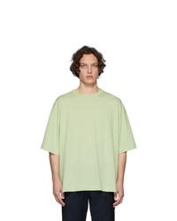 Camiseta con cuello circular en verde menta de Dries Van Noten