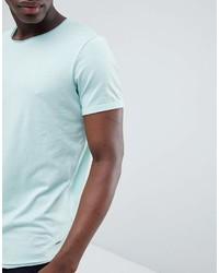 Camiseta con cuello circular en verde menta de Esprit