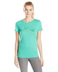 Camiseta con cuello circular en verde menta de Ice Breaker