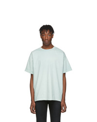 Camiseta con cuello circular en verde menta de John Elliott