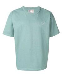 Camiseta con cuello circular en verde menta de Nick Fouquet