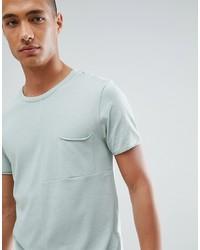 Camiseta con cuello circular en verde menta de Tom Tailor