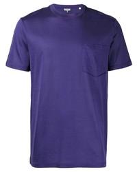 Camiseta con cuello circular en violeta de Lanvin