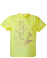 Camiseta con cuello circular estampada amarilla de Emilio Pucci