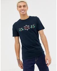 Camiseta con cuello circular estampada azul marino de ONLY & SONS