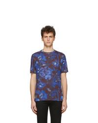 Camiseta con cuello circular estampada azul marino de Paul Smith