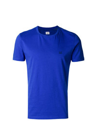 Camiseta con cuello circular estampada azul de CP Company