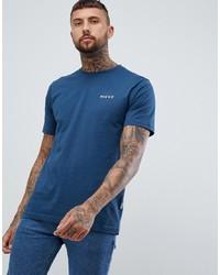 Camiseta con cuello circular estampada azul de Nicce London