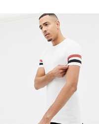 Camiseta con cuello circular estampada blanca de ASOS DESIGN