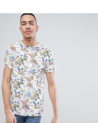 Camiseta con cuello circular estampada blanca de Bellfield