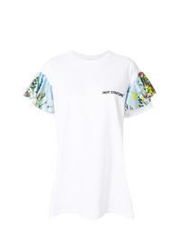 Camiseta con cuello circular estampada blanca de Brognano