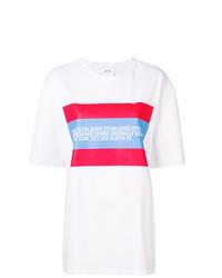 Camiseta con cuello circular estampada blanca de Calvin Klein Jeans Est. 1978