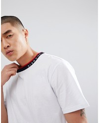 Camiseta con cuello circular estampada blanca de Diamond Supply