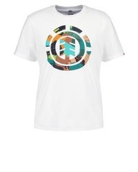 Camiseta con Cuello Circular Estampada Blanca de Element
