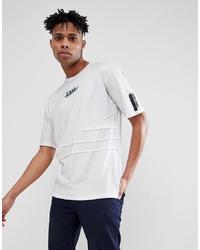Camiseta con cuello circular estampada blanca de Jack & Jones