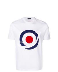 Camiseta con cuello circular estampada blanca de Jacob Cohen