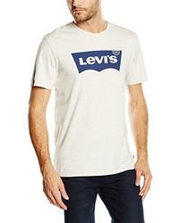 Camiseta con cuello circular estampada blanca de Levi's