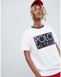 Camiseta con cuello circular estampada blanca de Polo Ralph Lauren