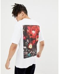 Camiseta con cuello circular estampada blanca de Systvm