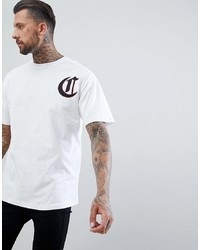 Camiseta con cuello circular estampada blanca de The Couture Club