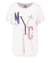 Camiseta con Cuello Circular Estampada Blanca de Tommy Hilfiger