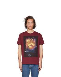 Camiseta con cuello circular estampada burdeos de Etro