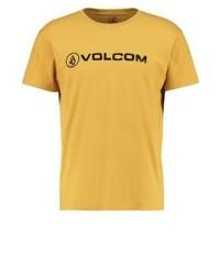 Camiseta con cuello circular estampada dorada de Volcom