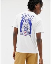 Camiseta con cuello circular estampada en blanco y azul de Vans