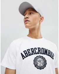 Camiseta con cuello circular estampada en blanco y negro de Abercrombie & Fitch