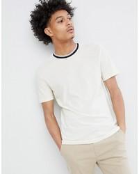Camiseta con cuello circular estampada en blanco y negro de Celio