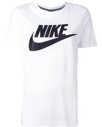 Camiseta con cuello circular estampada en blanco y negro de Nike