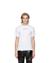 Camiseta con cuello circular estampada en blanco y negro de Ottolinger